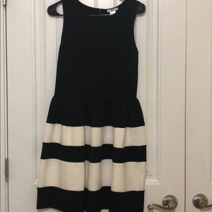 Bar III color block fit + flare dress